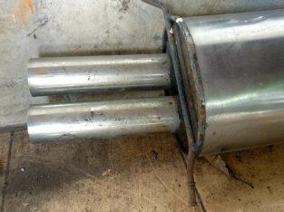 Knalpot mobil dual tail pipe